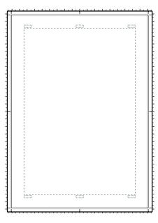 マンガ原稿用紙(A4>B5)